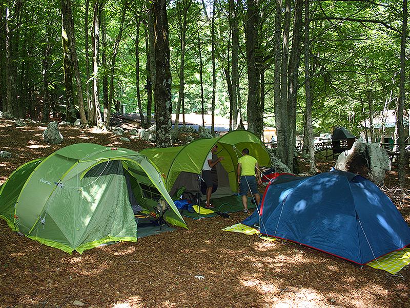 Notte in tenda sugli Alburni